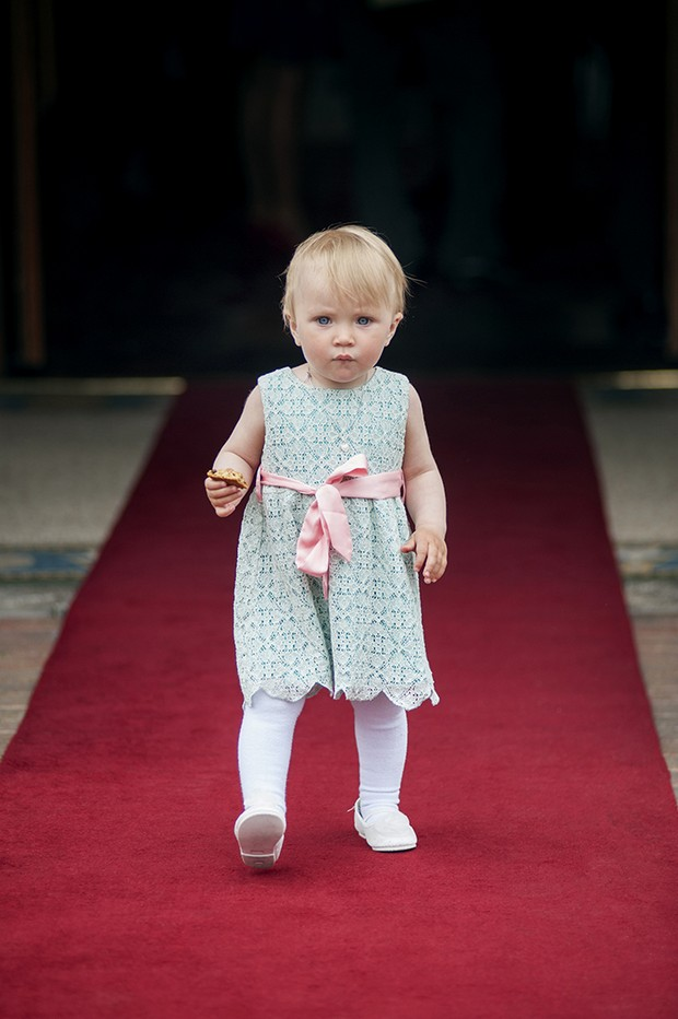 little wedding guest on red carpet