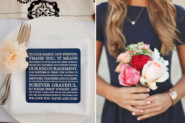Navy And Blush Wedding.A Chic Navy Blush Pink Wedding Palette Weddingsonline