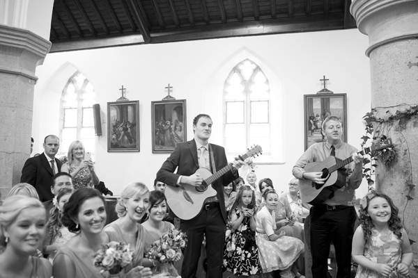 wedding ceremony guitar music guests