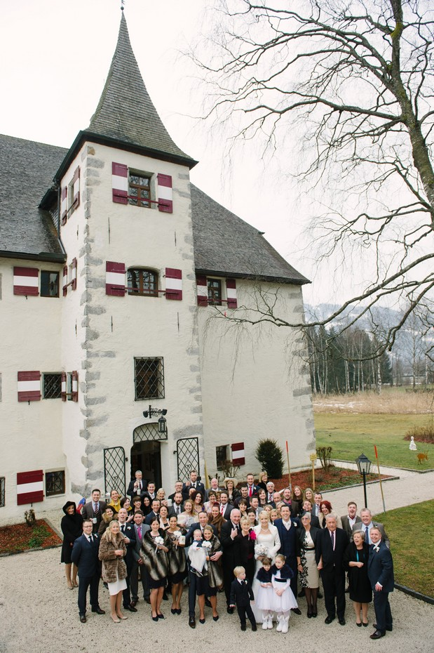 full wedding guest party photo winter