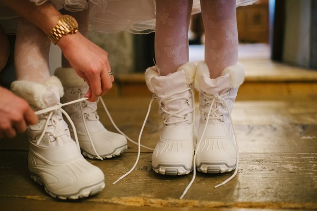 winter flower girl style snow boots