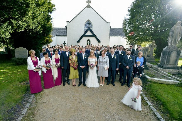 wedding-party-and-guests-outside-kilquade-church-wicklow