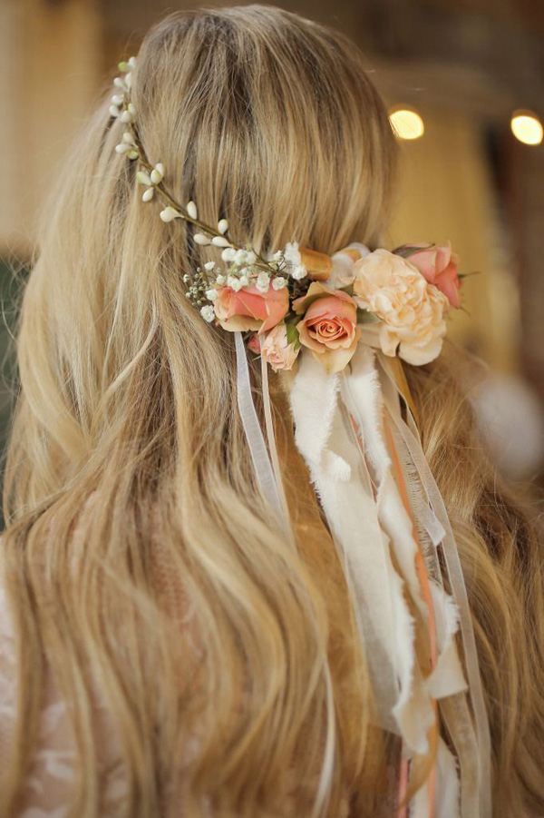 bride-floral-crown-hair-down
