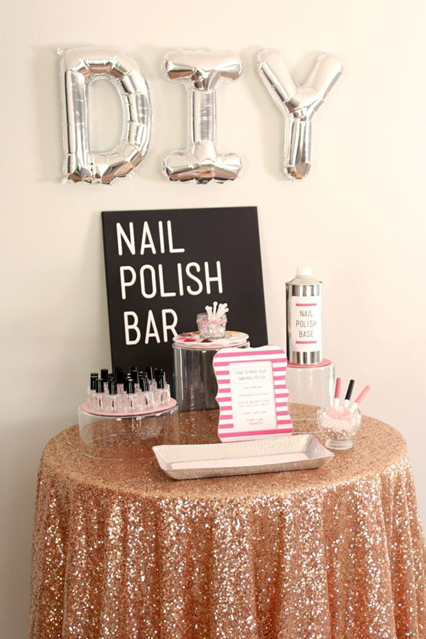 diy-nail-manicure-booth-hen-party