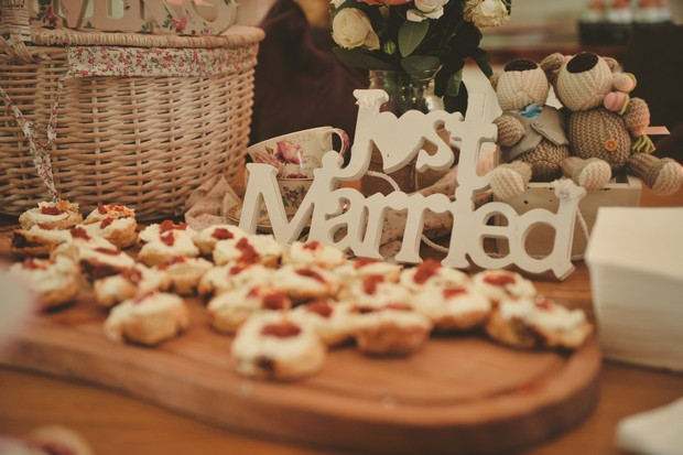 just-married-sign-dessert-table-wedding