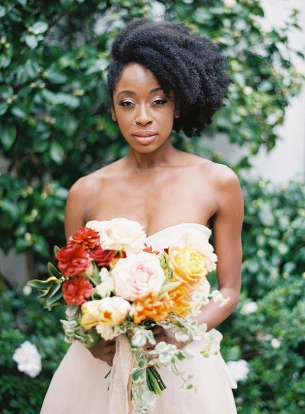 afro-style-wedding-hair-summer-bride-down-side