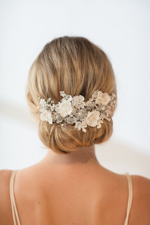 pearl-beaded-floral-headpiece-wedding-hairstyle