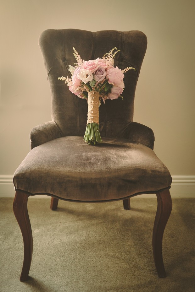 rustic-country-wedding-bouquet-hand-tied-pale-pink-roses