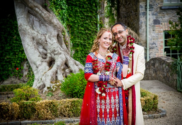 red-blue-indian-wedding-theme-bride-groom-style (2)