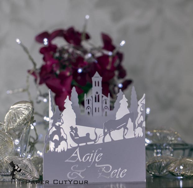 Paper_Cut_Your_Bespoke_Concertina_Invitation_Christmas_Sleigh
