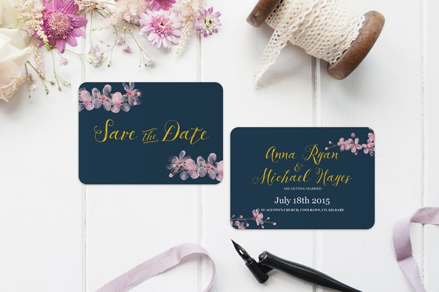 Pink_navy_gold_floral_save_the_date_wedding_card_kerry_harvey_design