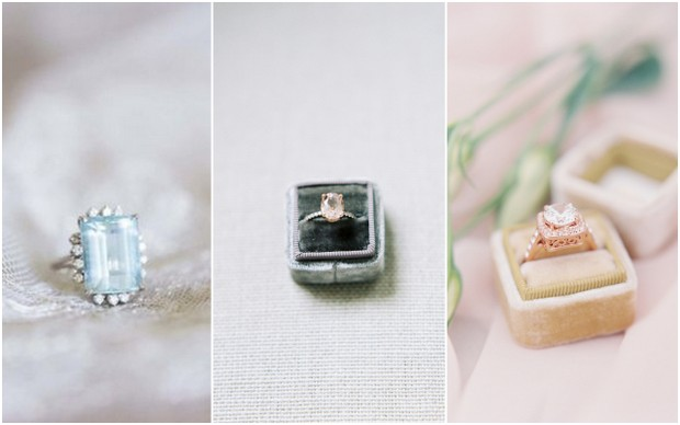 wedding-trends-2016-vintage-coloured-engagement-rings