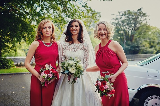 24-Bridesmaids-same-colour-different-styles-red-dessy-dresses