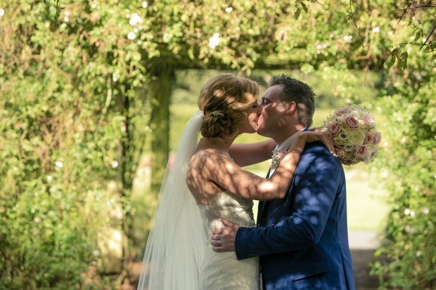 bride-and-groom-kissing-clontarf-castle-wedding