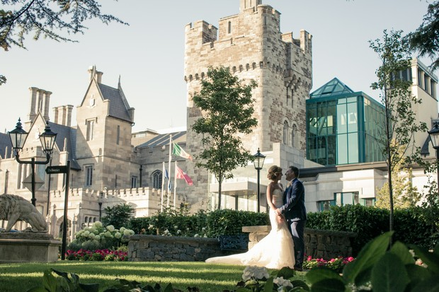 bride-and-groom-outside-clontarf-castle