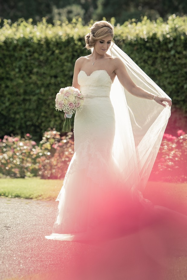bride-in-chapel-length-veil
