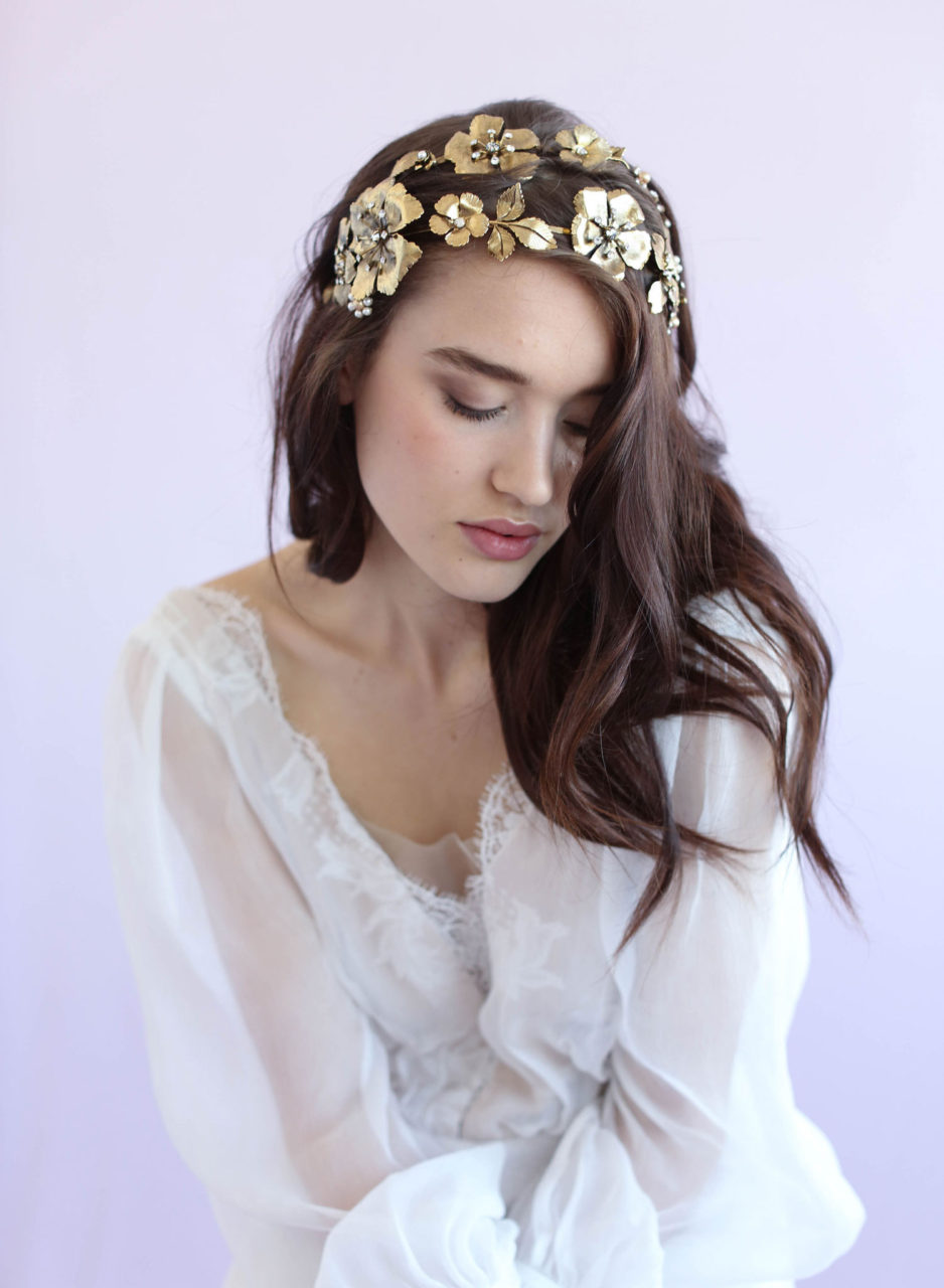 gold-flower-double-headband-grecian-wedding-hair-accessory-twigsandhoney