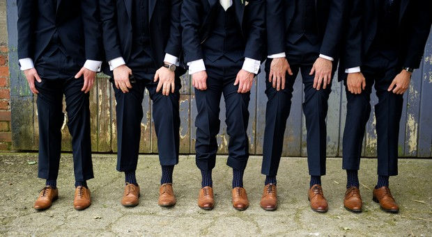 19-Grooms-Socks-Brown-Leather-Shoes-Navy-Suit-weddingsonline