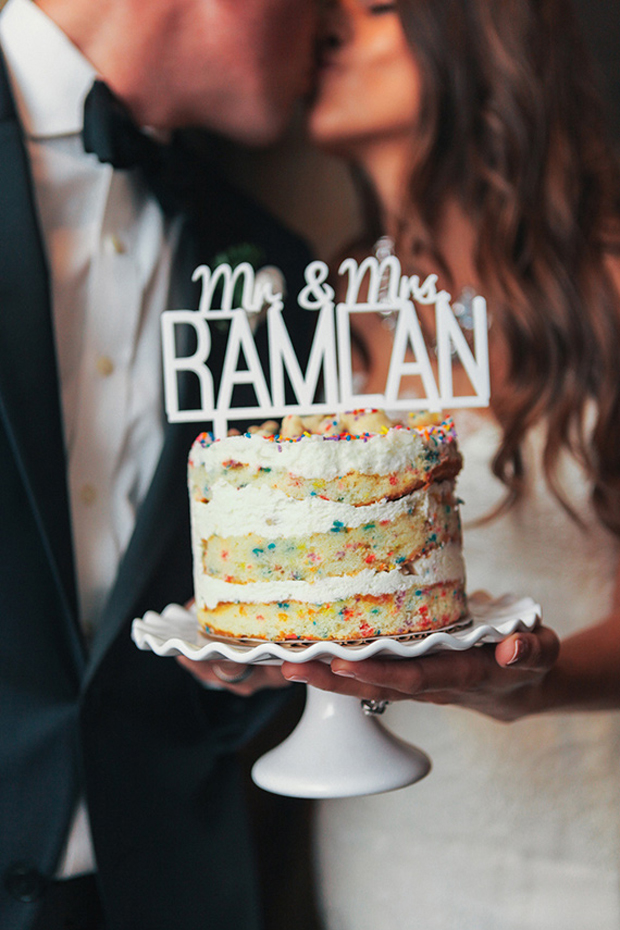 funfetti-wedding-cake-with-personalised-mr-and-mrs-cake-topper