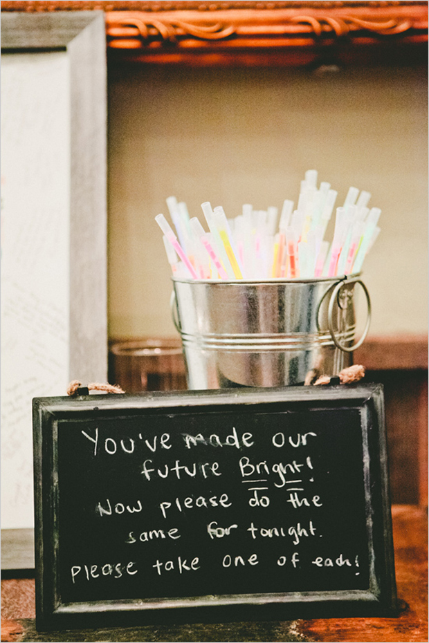 glowsticks-wedding-you've-made-our-future-bright