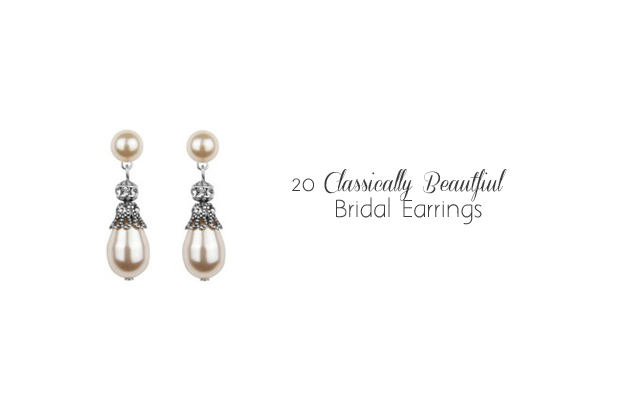 c9f58242a0b3f3 20 Classically Beautiful Bridal Earrings | weddingsonline