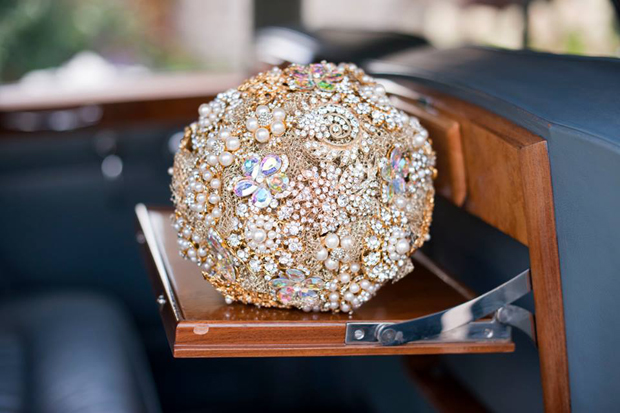 gold-and-diamante-bridal-brooch-bouquet