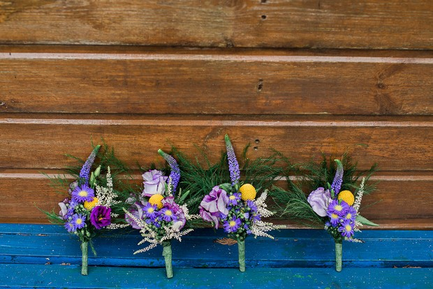 8-Purple-Yellow-Wedding-Theme-Boutonnieres-Kathy-Silke-Photography-weddingsonline