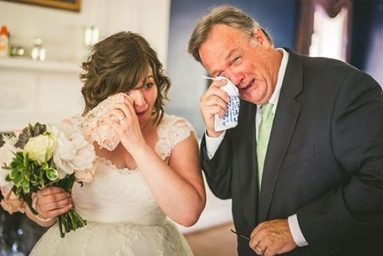 first-look-photo-crying-dad-bride