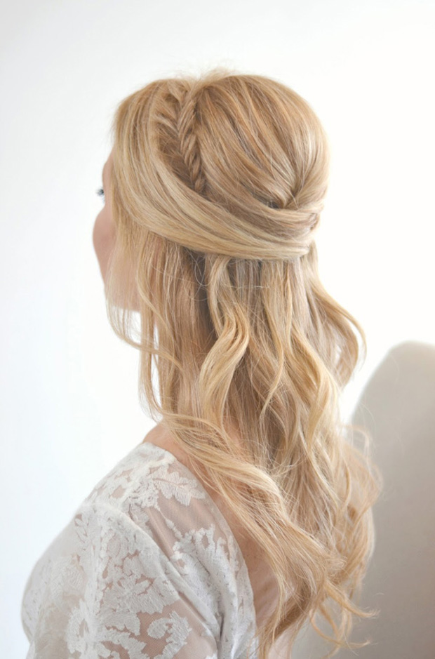 fishtail-half-up-half-down-wedding-hairstyle