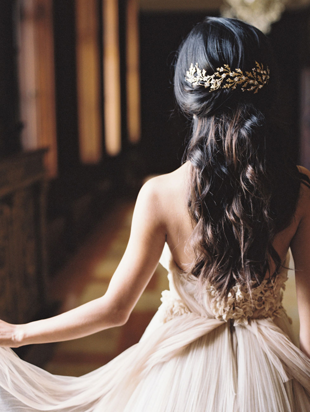 romantic-half-up-half-down-wedding-hairstyle-with-embellished-sldie