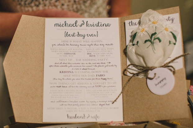 ceremony-booklet-with-happy-tears-hankerchief