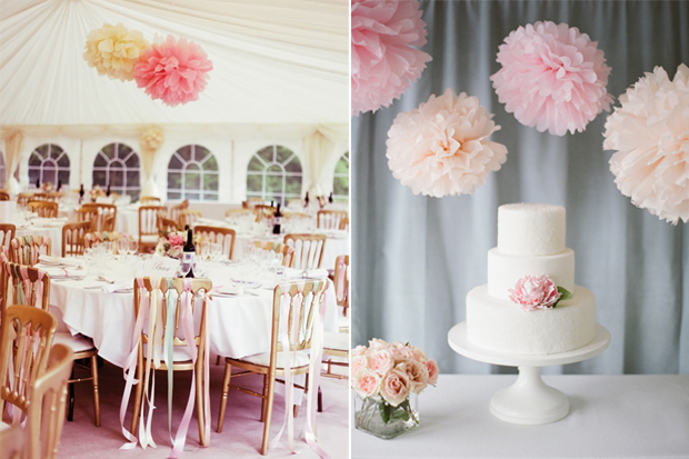 10 Of The Prettiest Ways To Use Pom Poms In Your Wedding