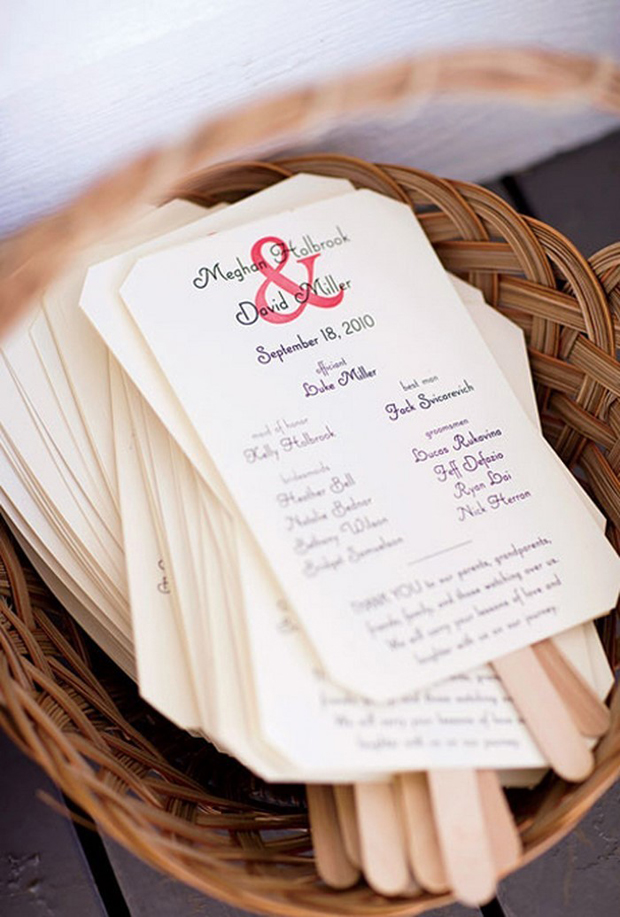 wedding-ceremony-booklet-with-oversized-ampersand