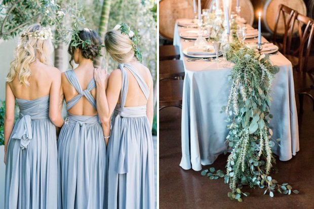 eeb7714d2abf8 Dreamy Dusty Blue Winter Wedding Inspiration | weddingsonline