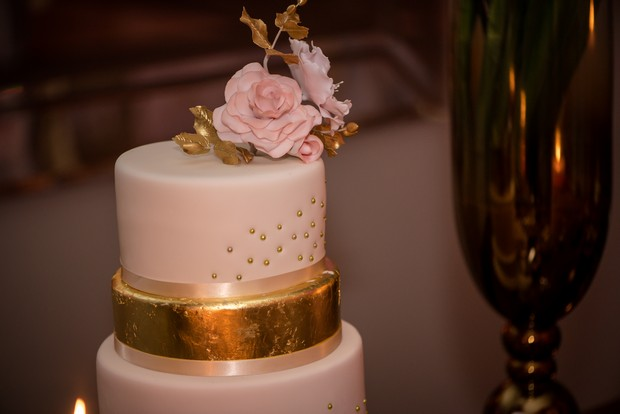 loughrea-hotel-real-wedding-paul-duane-wedding-cake-with-gold-foil