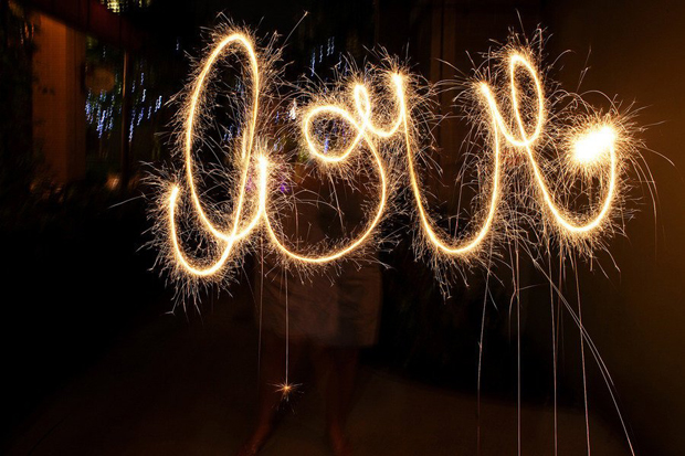 love-writing-sparklers-wedding