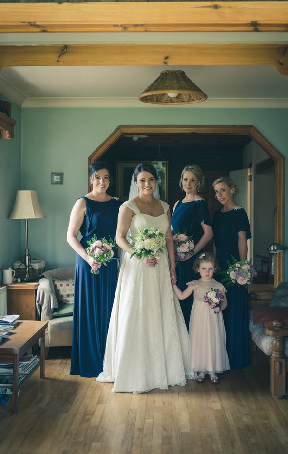 barberstown-castle-wedding-bride-with-bridal-party