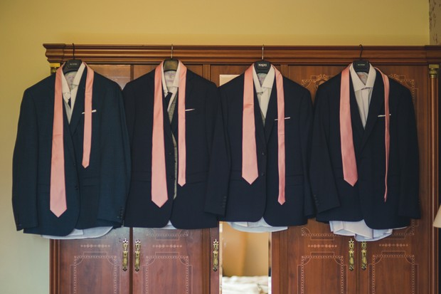 barberstown-castle-wedding-navy-suits-with-pink-ties