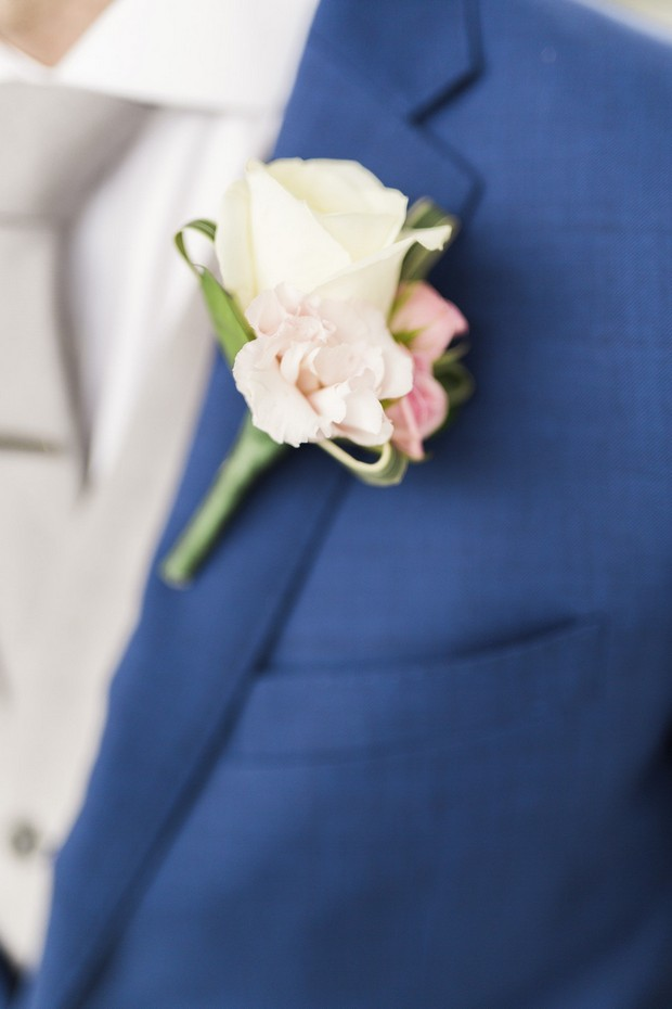 7-Cream-Pink-Floral-Groom-Boutonniere-Navy-Blue-Suit