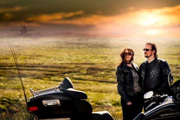 bride-and-groom-in-leathers-with-motorbikes