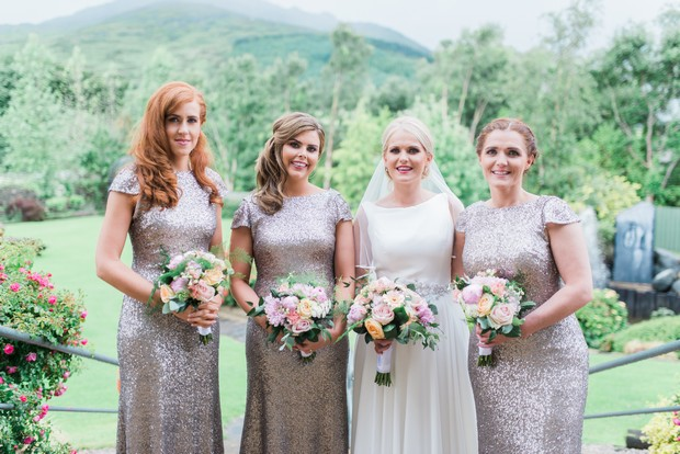 2495eb48c4 Stunning Sequin Sorella Vita Dresses as Seen in Lisa   John s Fab Four  Seasons Wedding