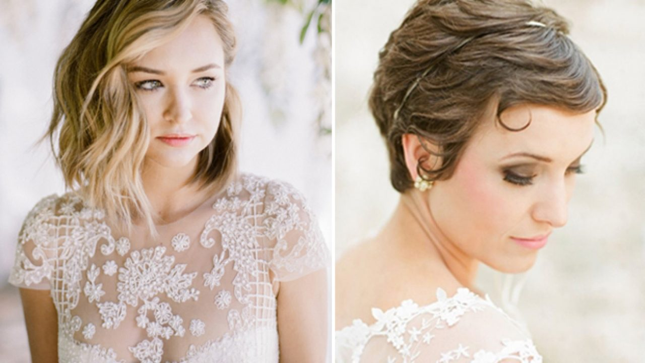 20 Sublime Wedding Hairstyles For Short Haired Brides Weddingsonline