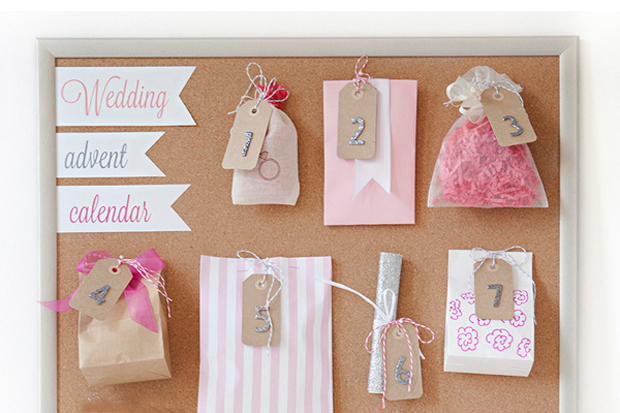 9258b972c1c One of our HIGM Facebook Group brides-to-be recently posted a pic of an  awesome  Wedvent  (wedding advent calendar) her bridesmaid put together for  the lead ...