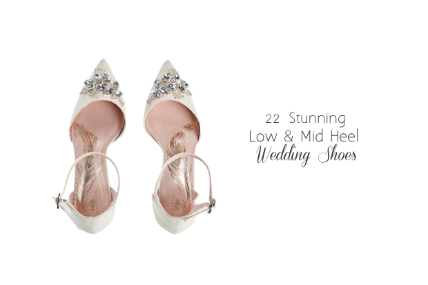 5bf9aaea3ea 22 Gorgeous Low and Mid Heel Wedding Shoes. published Wednesday ...
