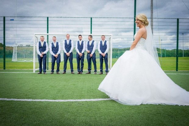 A Fun Footie Themed Wedding At Knightsbrook Hotel By M M Photography Weddingsonline