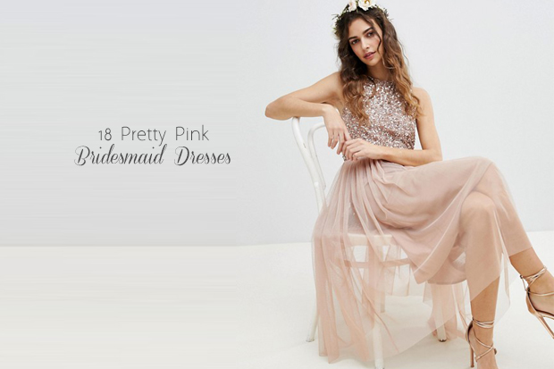 2900e773c64c We revealed some of the biggest bridesmaid dress trends of the year back in  January but one trend that never gets old is pink bridesmaid dresses.