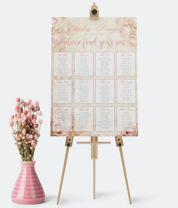 Wedding Table Plans Ideas: Gorgeous Table Plan Inspo From Irish Suppliers