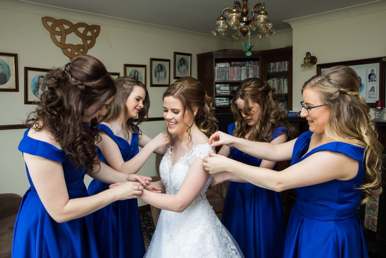A Brilliant Blue Wedding In Ireland Weddingsonline