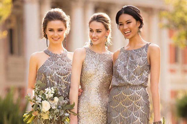 Get Your Glitz On Gorgeous Gold Bridesmaid Dresses