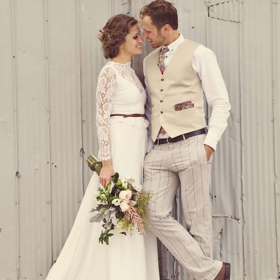 Grooms laid-back style